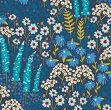 Cirri pack Blue Flowers without piping_