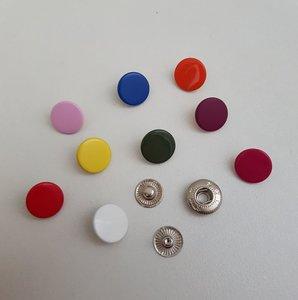 Gekleurde metalen drukknoop 12 mm