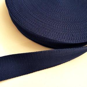Tassenband 38 mm donkerblauw