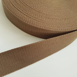 Webbing light brown 38 mm