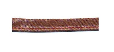 Paspel brons lurex gestreept
