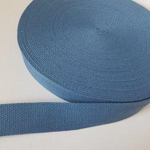 Tassenband 38 mm grijsblauw
