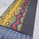 Kunstleer snake multicolored fel per vel - 2 laatste vellen!!!_