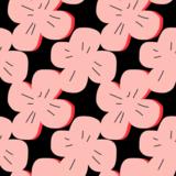 Gelamineerd katoen Pink Rose_