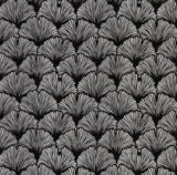 Canvas Ginkgo zwart/wit_