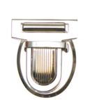 Metalen tas sluiting zilverkleurig ca. 32x38 mm_