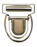 Metalen tas sluiting zilverkleurig ca. 43x53 mm_
