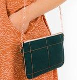 Thin Grid - Cotton Canvas Gabardine Twill - Green Gables_