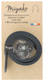 Miyako lederen riemen zwart 50 cm x 2,5 cm_