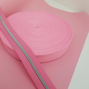 Tassenband 38 mm barbapapa roze