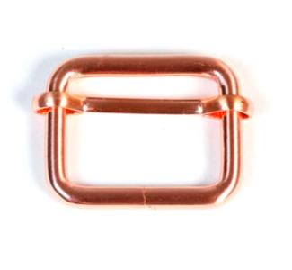 Schuifgesp rosé goud binnenmaat 25 mm