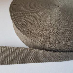 Tassenband 38 mm groenbruin
