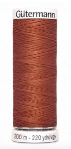 Garen donker koraal metallic 847