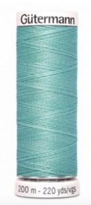 Garen muntgroen gevlochten leer/munt metallic 929
