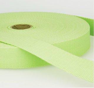 Tassenband 38 mm lichtgroen