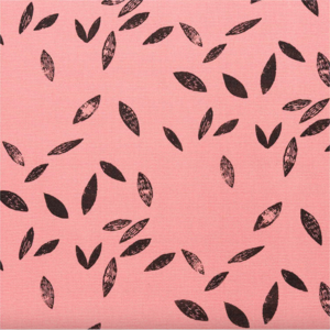 Black leaves on pink