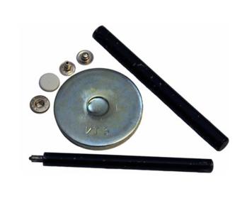 Gereedschap set voor drukknopen 12 mm