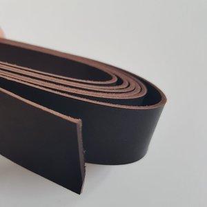 Lederen riem donkerbruin 25 mm