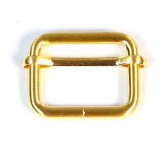 Schuifgesp fel goud binnenmaat 25 mm