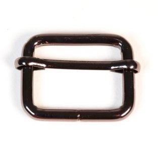 Schuifgesp zwart nikkel binnenmaat 25 mm