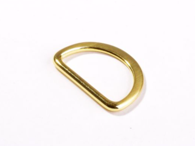 D-ring fel goud 25 mm
