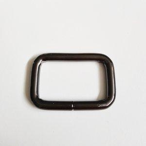 Passant zwart nikkel binnenmaat 30 mm