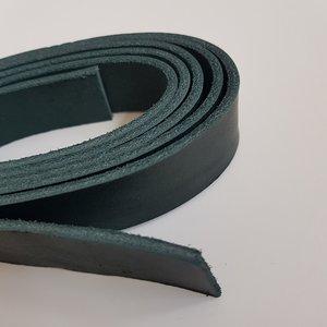 Lederen riem donkergroen 25 mm