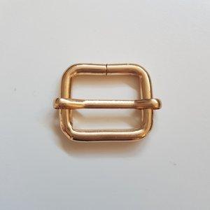 Schuifgesp licht goud binnenmaat 25 mm