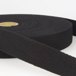 Tassenband 30 mm zwart