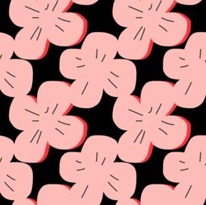 Gelamineerd katoen Pink Rose