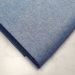 Gemêleerde stof met lurex blauw