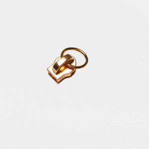 Trekker met ring voor rits 6 mm goud
