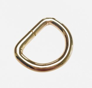 D-ring licht goud 20 mm