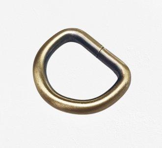 D-ring brons/messing antik 20 mm