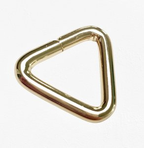 Passant driehoekig licht goud 20 mm