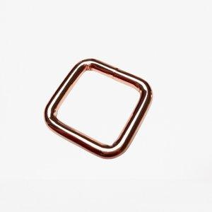 Passant vierkant rosé 20 mm