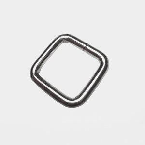 Passant vierkant zilver/nikkel 20 mm