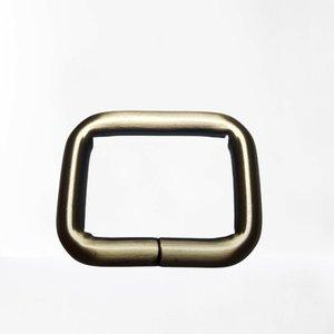 Rechthoekige passant brons binnenmaat 25 mm