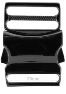Klikgesp metaal gun black / titan 25 mm