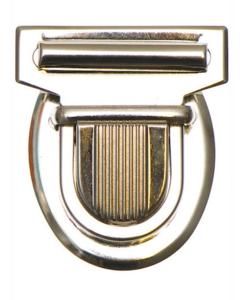 Metalen tas sluiting zilverkleurig ca. 43x53 mm
