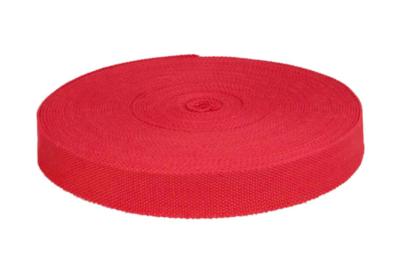 Tassenband 25 mm rood