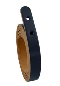 Miyako lederen riem zwart 125 cm x 1,5 cm