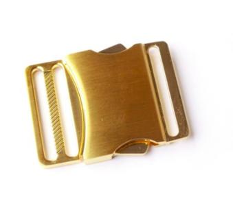 Klikgesp metaal goud 40 mm