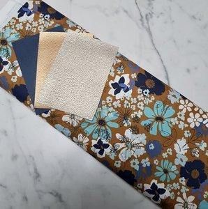 Cirri colorblock pakket donkerblauw/donkergoud/champagne
