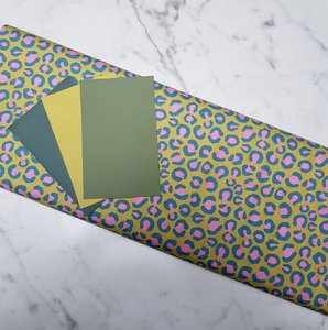 Cirri colorblock pakket ceder/chartreuse/olive